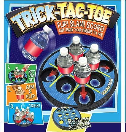 18 Piece Bottle Flip Game 54 Challenges /& Game Accessories