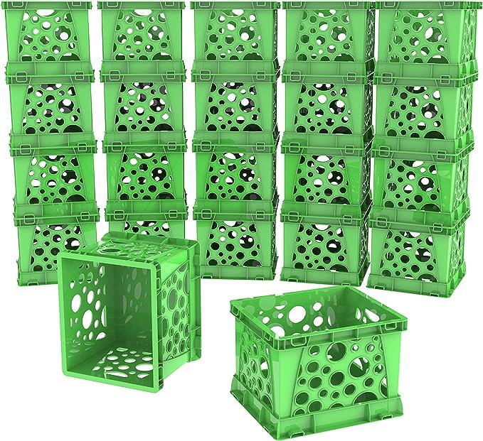 Storex Micro Crate Purple 6.75 x 5.8 x 4.8 Inches 18-Pack 63105U18C
