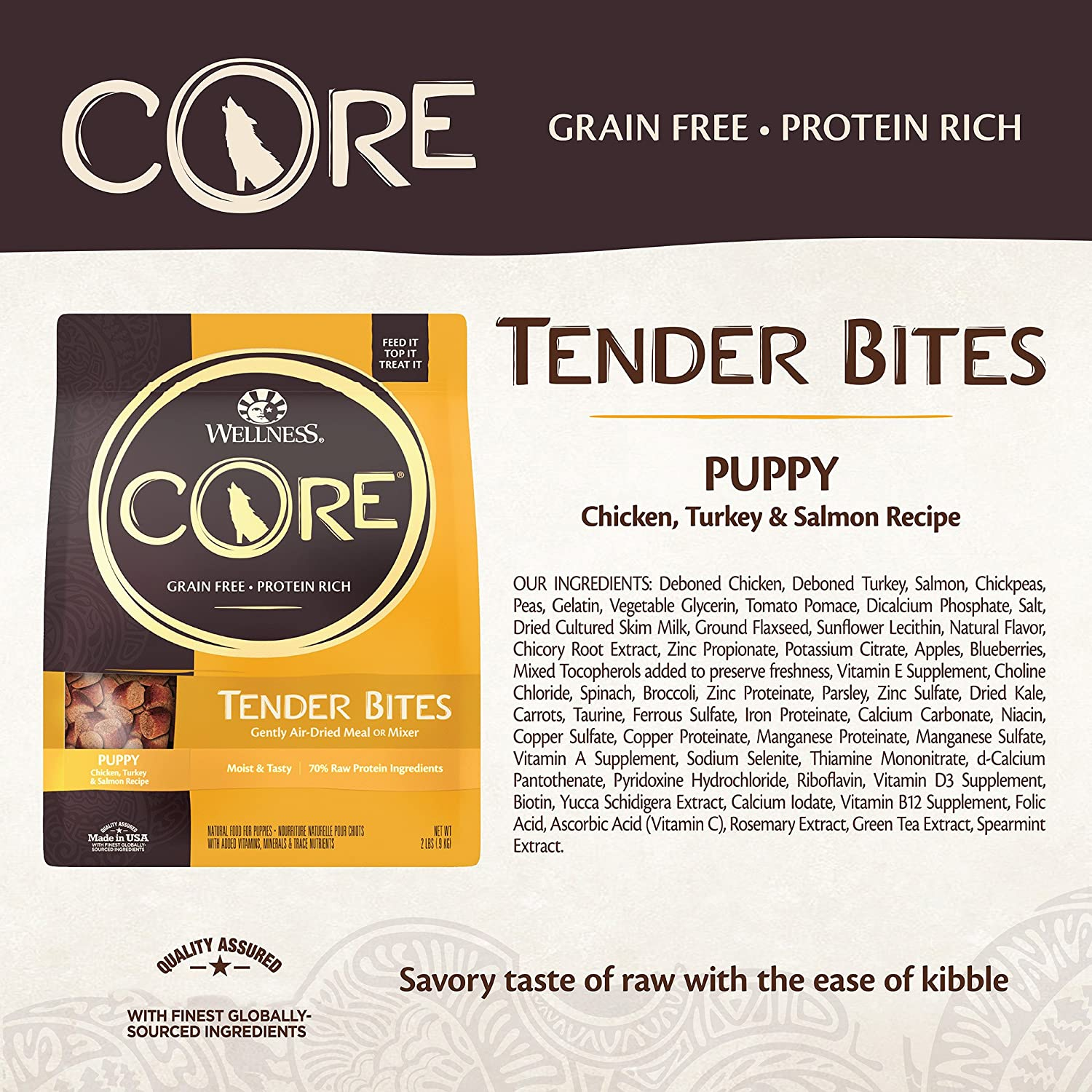 Wellness core air dried grain free natural dry puppy food chicken wellness core air dried grain free natural dry puppy food chicken turkey salmon 2 pound bag amazon pet supplies nvjuhfo Image collections