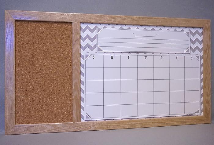 Amazon Com Large Framed Dry Erase Board Calendar Cork Board