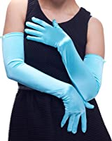 """22"""" Classic Adult Size Opera Length Satin Gloves"""