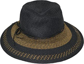 871351eb2f0 August Hat CO Two-Tone Brim Tie Accented Floppy Sun Hat