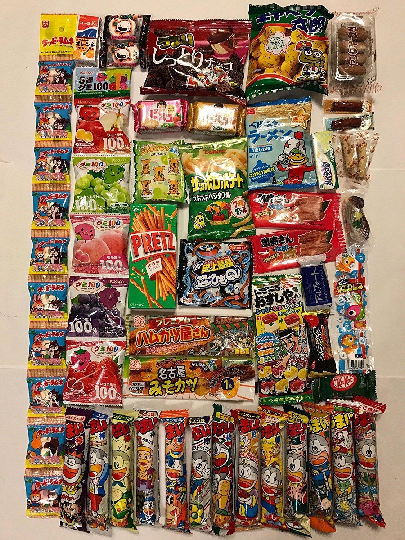 Assorted Japanese Junk Food Snack ''Dagashi''