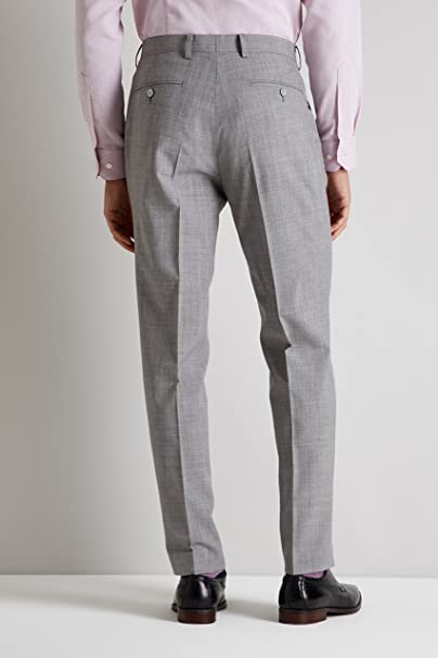 334095d82a1 French Connection Men's Slim Fit Light Grey Marl Trousers 42S:  Amazon.co.uk: Clothing