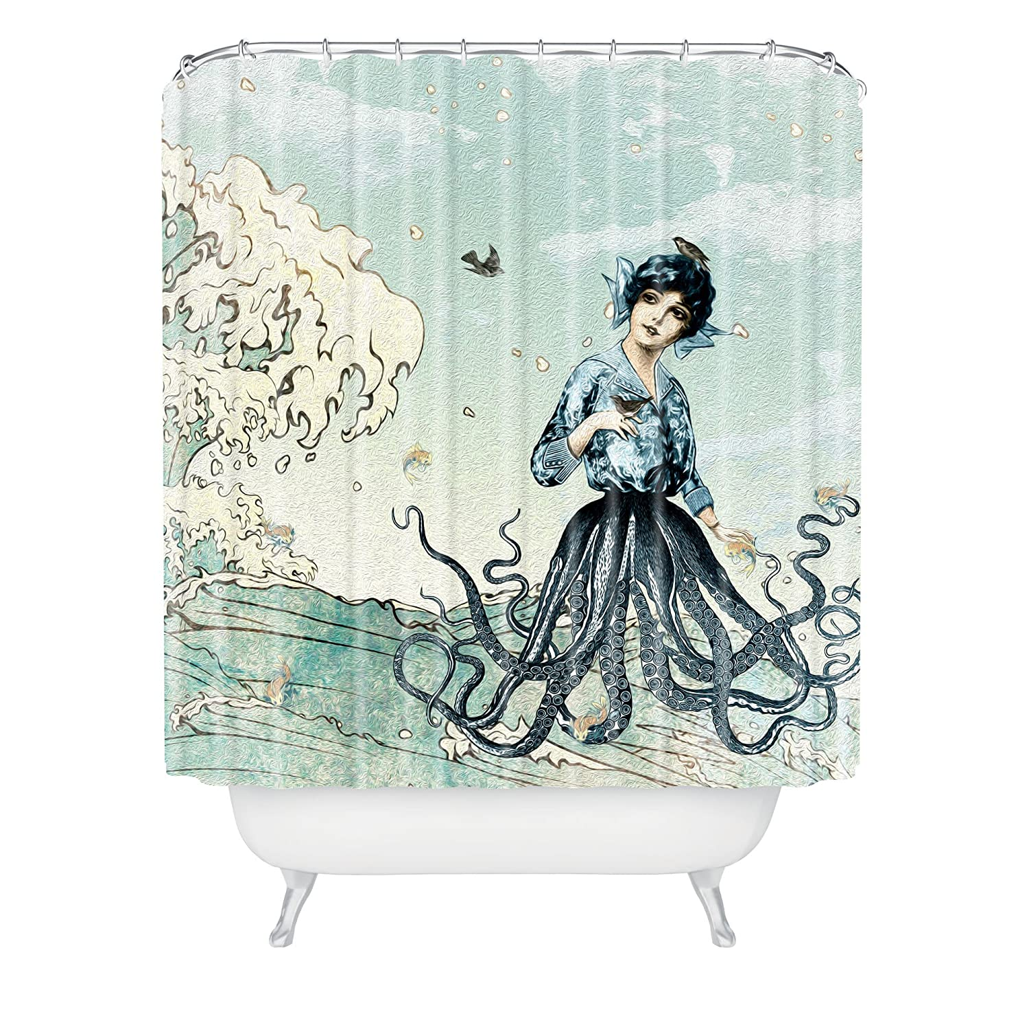"Deny Designs Belle13 Sea Fairy Shower Curtain, 69"" x 72"""
