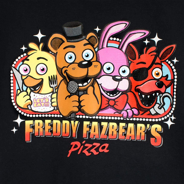 Five Nights at Freddys Boys Freddie Fazbears Pizza T-Shirt Size 14