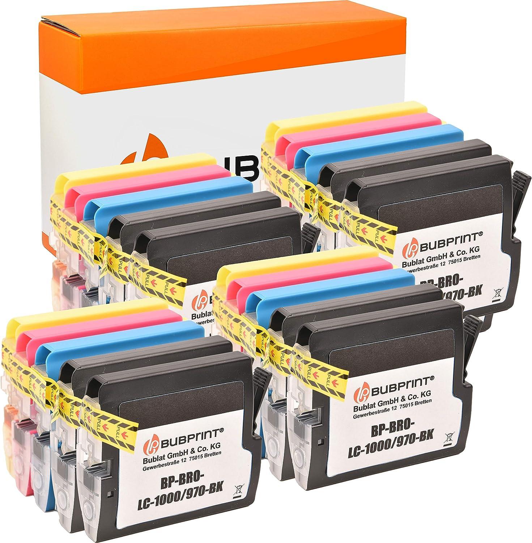 20 Bubprint Druckerpatronen Kompatibel Für Brother Lc 1000 Lc 970 Für Dcp 130c Dcp 135c Dcp 150c Dcp 350c Dcp 357c Mfc 235c Mfc 240c Mfc 260c Mfc 465cn Mfc 5460cn Fax 1355 Multipack Bürobedarf Schreibwaren