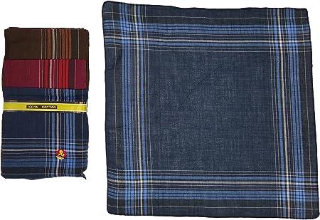 12 Pieza Hombre pañuelos (40 x 40 cm, 100% algodón, plástico ...