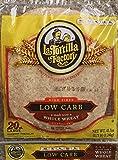 La Tortilla Factory Whole Wheat Low Carb Tortillas (Large Size)- Pack of 20 - 43.7 Oz / 2.73 Lb