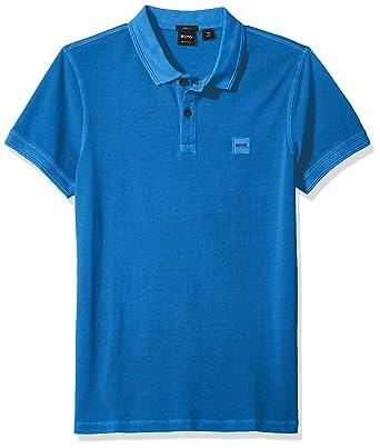 86a3929aee6de Amazon.com  Hugo Boss Men s Prime Slim Fit Short Sleeve Polo T-Shirt   Clothing