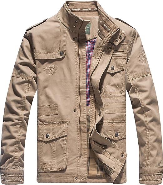 YYZYY Homme Cotton Classique Militaire Veste Blousons