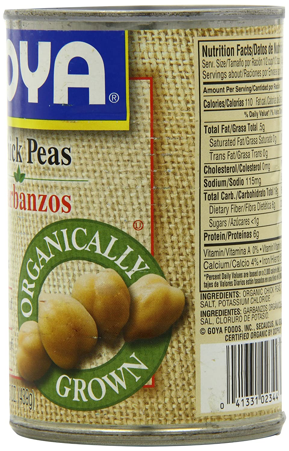 Amazon.com : Goya Organic Chick Peas, 15.5-Ounce (Pack of 24) : Vegetable Bouillon : Grocery & Gourmet Food