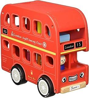 Amazon.com: Indigo Jamm Benji Bus Wood Toy Vehicle: Toys & Games