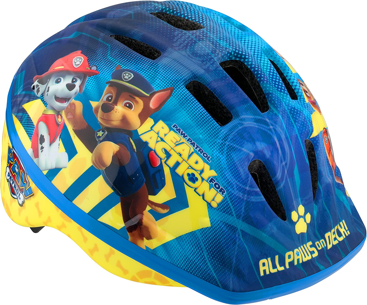 Licensed Paw Patrol Toddler and Kids Bike Helmet, Toddler, All Paws, All Paws Blue (PP78801AZ-6): Sports & Outdoors