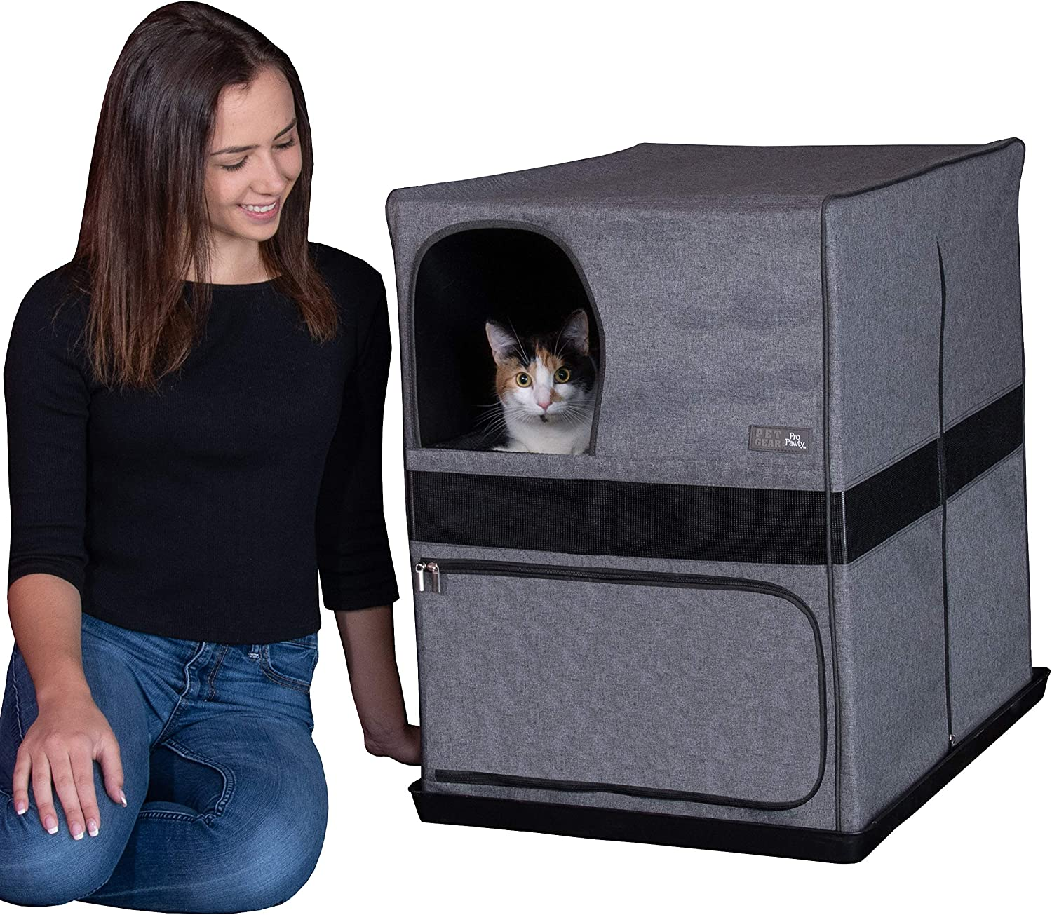 Pet Gear Pro Pawty for Cats, Put an end to Scattered Litter, Box not Included