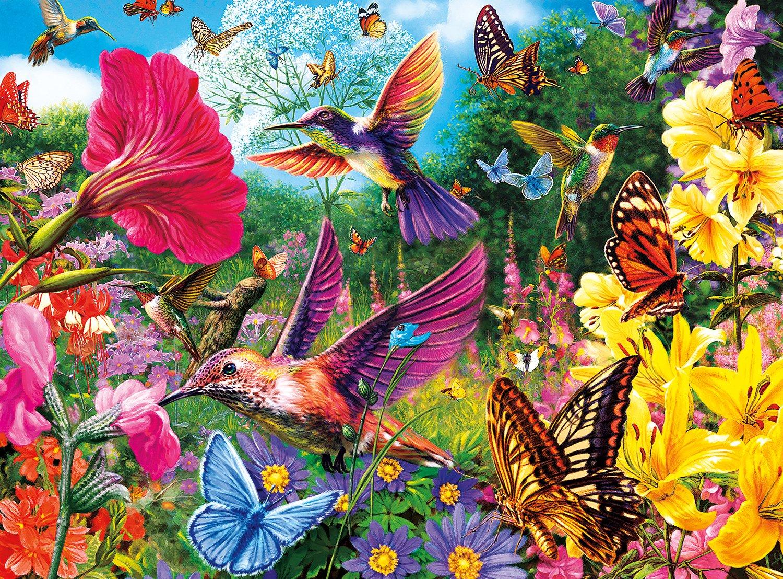 Buffalo Games - Vivid Collection - Hummingbird Garden - 1000 Piece Jigsaw Puzzle by Buffalo Games