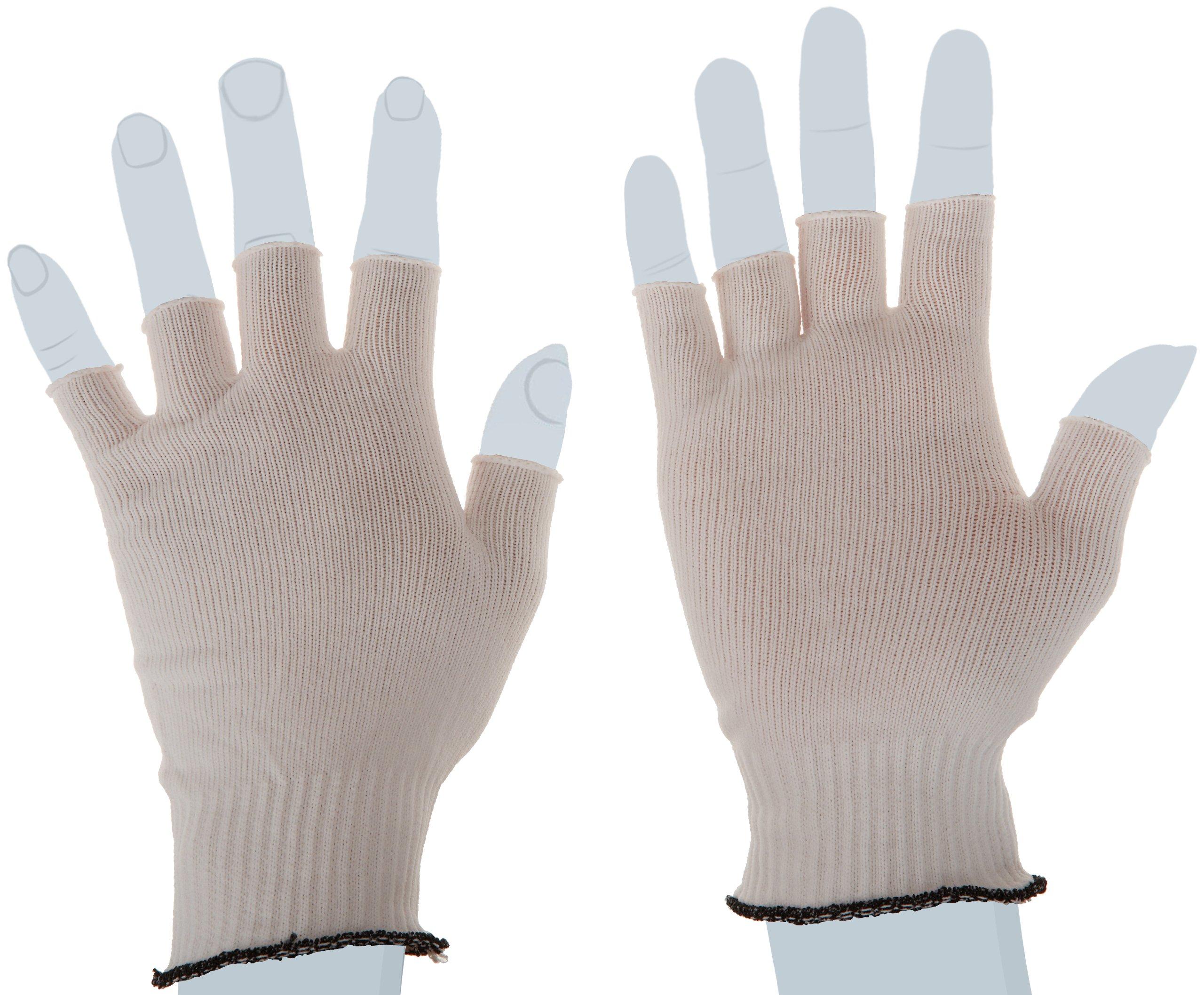 Berkshire BCR Nylon Half-Finger Glove Liners SK, Large Bulk Size (Bulk Pack of 200 Pairs)