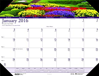 product image for House of Doolittle 2016 Monthly Desk Pad Calendar, Earthscapes Gardens, 22 x 17 Inches (HOD174-16)