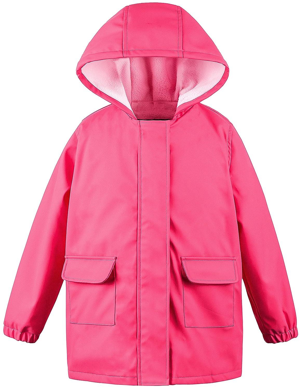 Wantdo Boy's and Girl's Hooded Raincoat Waterproof Lightweight Jacket Outwear