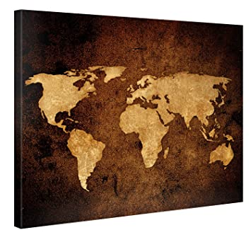 Amazon large canvas print wall art vintage world map large canvas print wall art vintage world map 40x30 inch abstract canvas picture stretched gumiabroncs Images