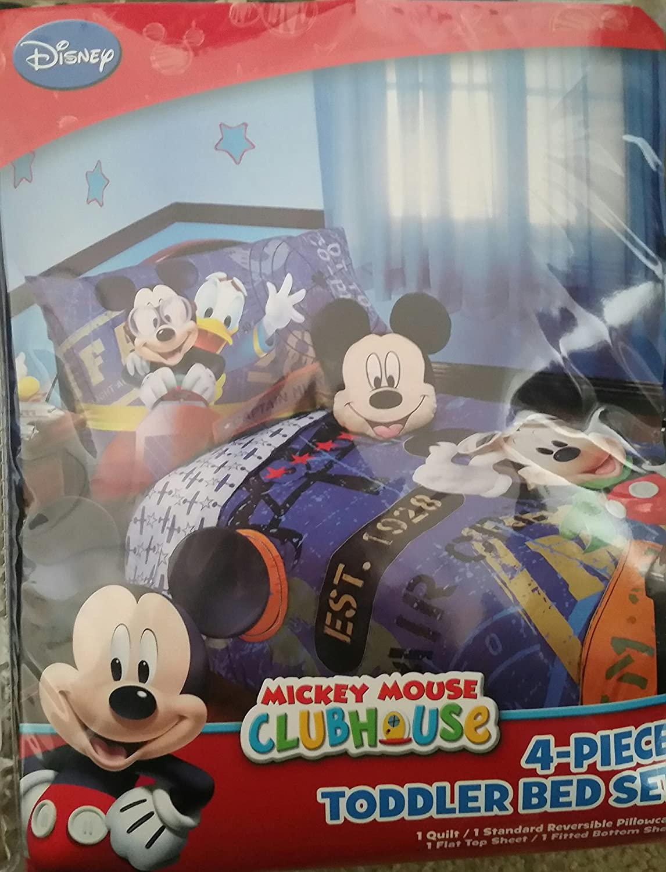Mickey Mouse 4 Piece Toddler Bedding Set Disney Jr.