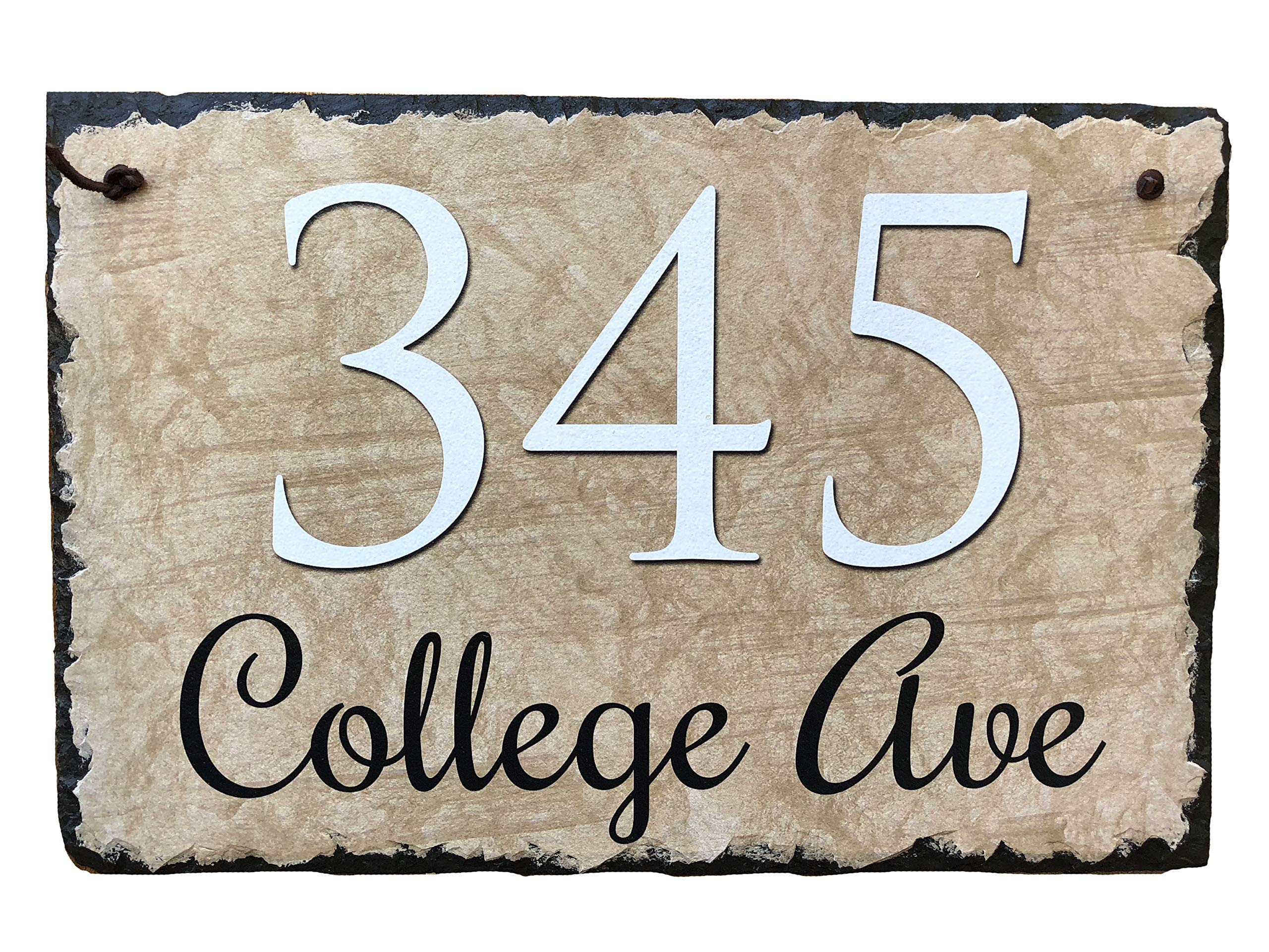 Sassy Squirrel Handcrafted and Customizable Slate Home Address Plaque