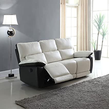 Amazon.com: Modern Two Tone Bonded Leather Oversize Recliner ...