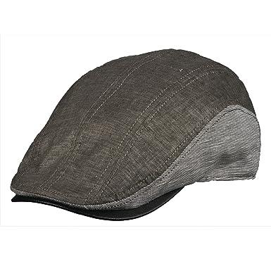 Stetson Classic Men s Linen Blend Faux Leather Ivy Cap at Amazon ... e9becb5fd8ab