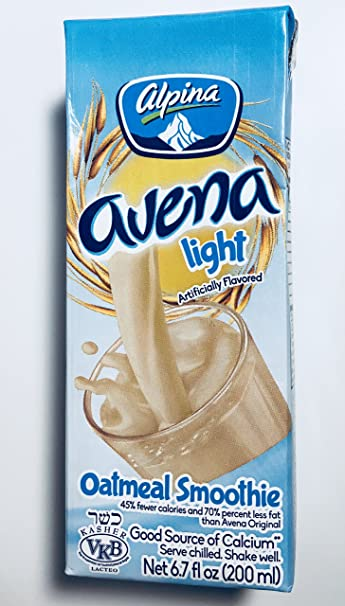 Alpina Avena Light Oatmeal Smoothie, 6.7 Oz (200 ml) Pack of 18