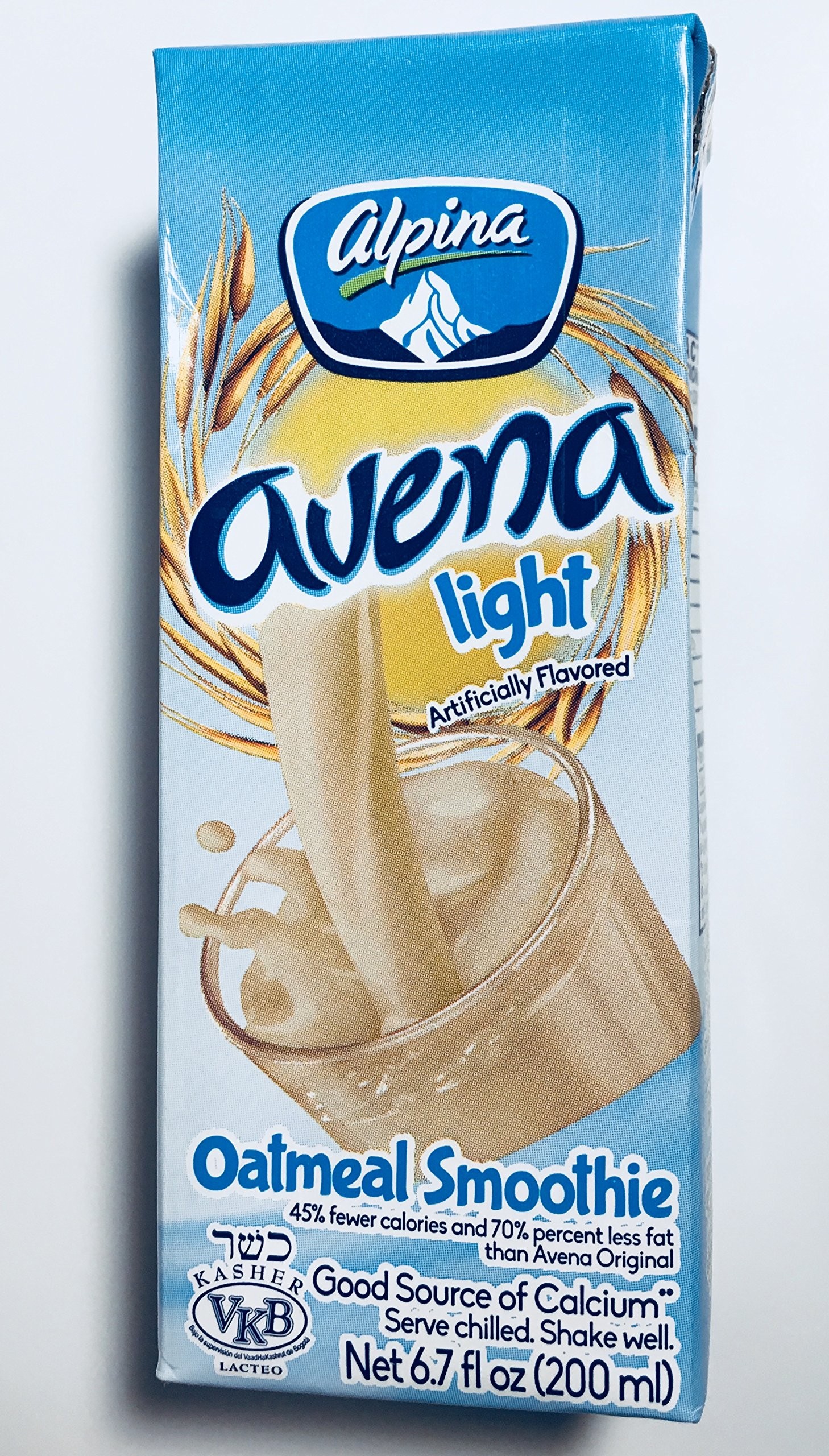 Alpina Avena Light Oatmeal Smoothie, 6.7 Oz (200 ml) Pack of 18