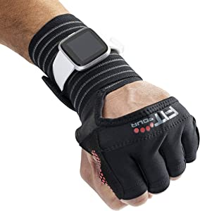 Fit Four OCR Slit Grip Gloves, Official Glove of OCR | Obstacle Course Racing & Mud Run Hand Protection | Wrist Support with Slit for Fitness Watch