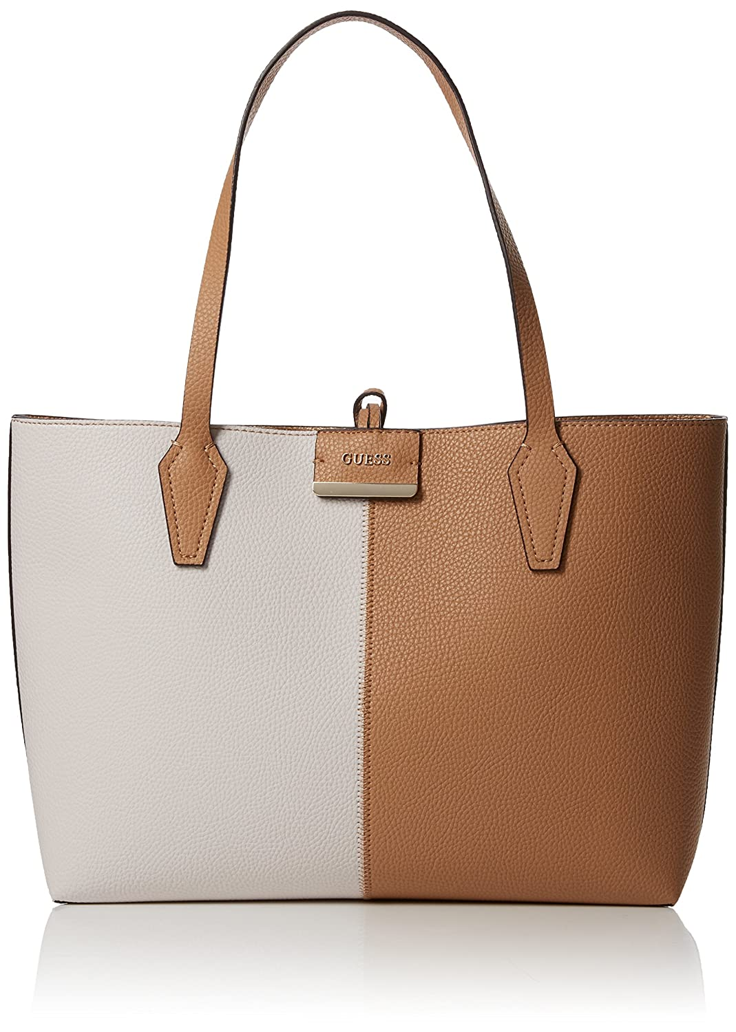 Guess Damen Bobbi Schultertasche, Multicolore (Tan Gold), 12.5 x 27 x 42.5 cm