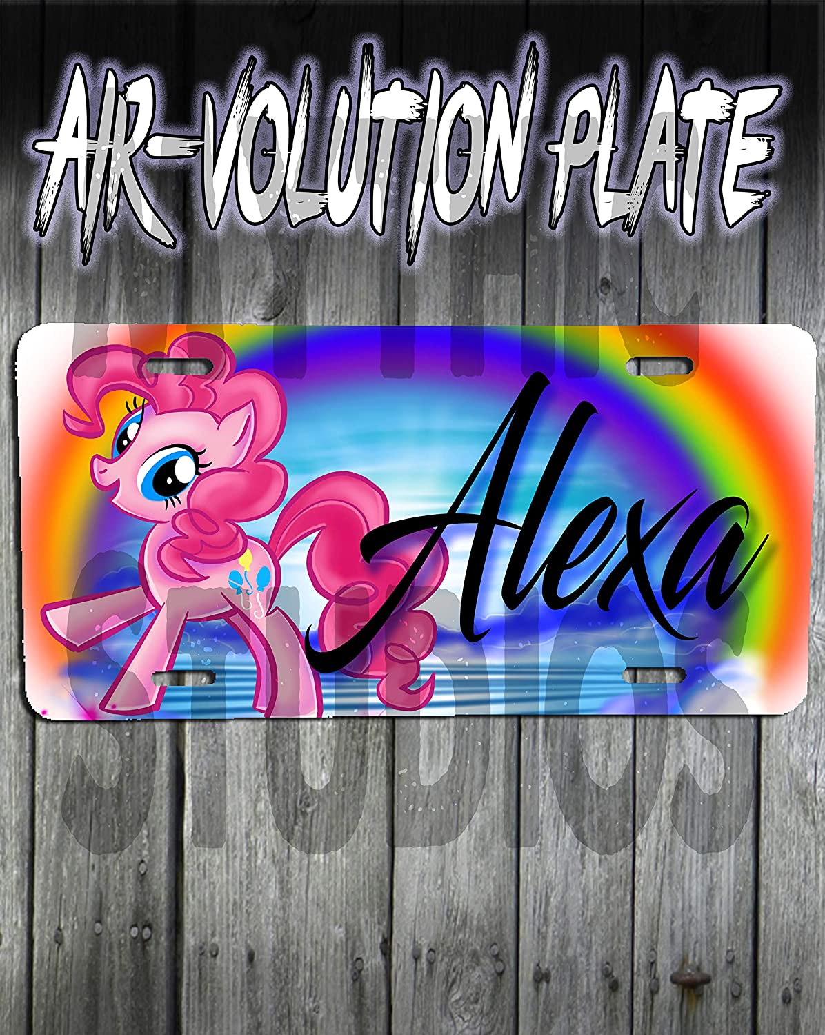 Personalized Airbrush My Little Pony Pinki Pie License Plate Tag