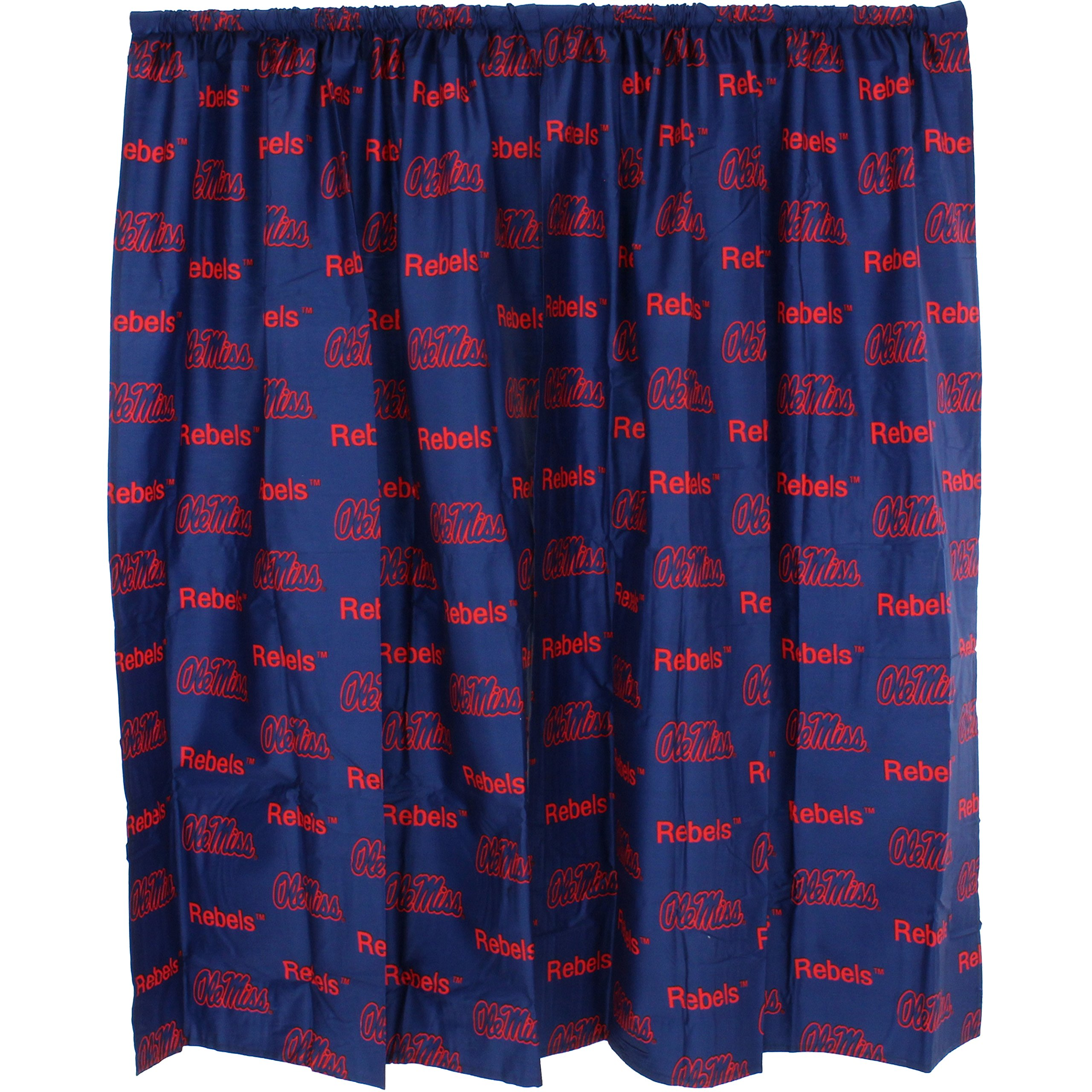College Covers Shower Curtain Cover, 70'' x 72'', Ole Miss Rebels by College Covers