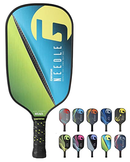 Amazon.com : Gamma Needle Elongated Pickleball Paddle: Pickle Ball Paddles for Indoor & Outdoor Play - USAPA Approved Racquet for Adults & Kids - Pink/Blue ...