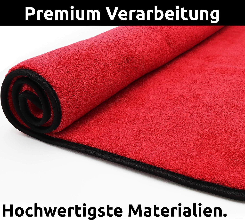 Cleaneed Premium Trockentuch 90x60cm 1200gsm Extra Saugstark Ohne Rückstände Mikrofasertuch Mit Extremer Aufnahmekapazität Besonders Lackschonend Für Auto Und Motorrad Auto