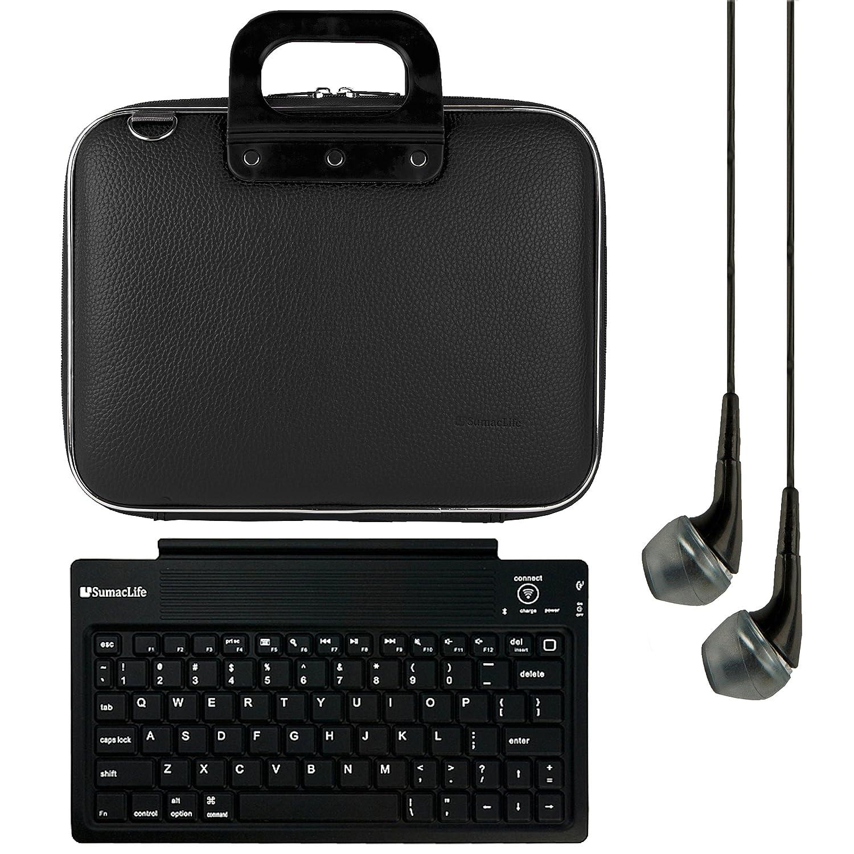 SumacLife 10.1インチタブレットメッセンジャーバッグfor Lenovo IdeaPad Miix 300 withブラックヘッドフォン(ブラック)   B019HWAOPM
