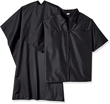 Scalpmaster Barber Jacket \u0026 Cutting Cape Set, Black