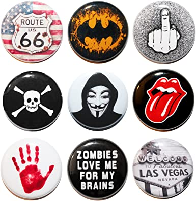 Small 25mm Lapel Pin Button Badge Novelty I Love Zombies