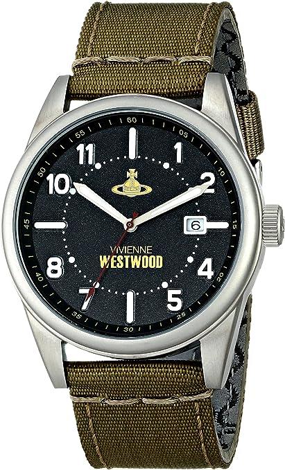 Vivienne Westwood VV079BKTN - Reloj analógico de Cuarzo para Hombre, Correa de Cuero