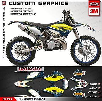 Kungfu Graphics Rockstar Custom Decal Kit for Husqvarna TE FE 125 250 300 350 450 501 2015 Black Yellow