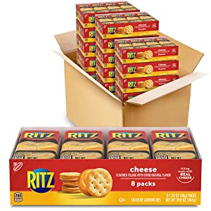 RITZ Cheese Sandwich Crackers, 112 - 1.38 oz Snack Packs (14 Boxes)