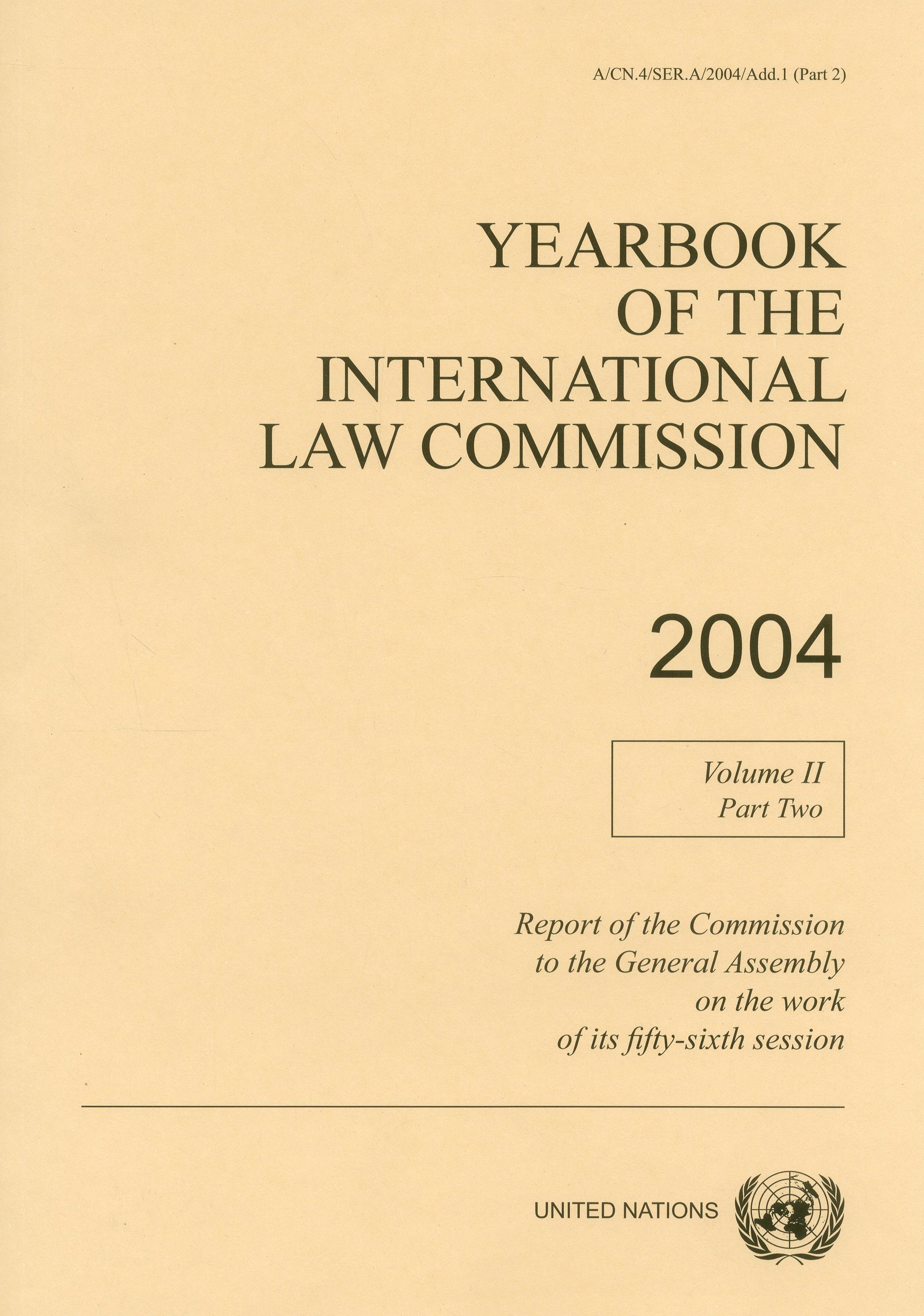 Yearbook of the International Law Commission 2004 (United Nations Office in Geneva) ebook