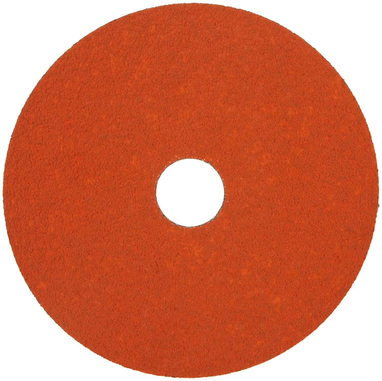 "Norton SG Blaze F980 Abrasive Disc, Fiber Backing, Ceramic Aluminum Oxide, 7/8"" Arbor, 4-1/2"" Diameter, Grit 36 (Box of 25) 91rajCV8t0L"