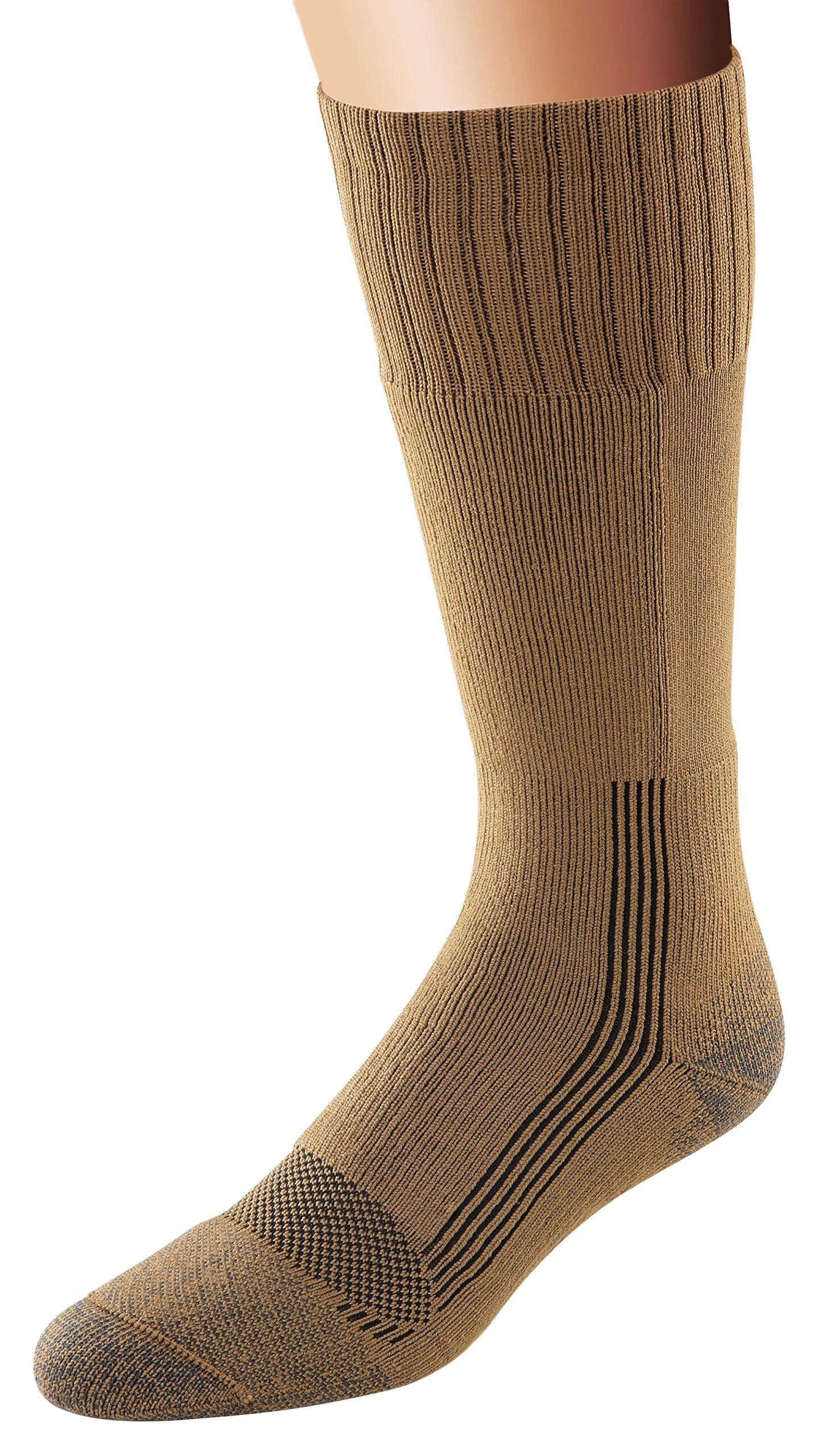 Fox River Military Wick Dry Maximum Mid Calf Boot Sock (Med/Coyote Brown) by FoxRiver