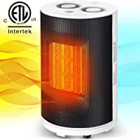 Bojing 1500W/950W Ceramic Portable Indoor Space Heater, Electric Quiet Oscillating Fan Heater for Home and Office with Thermostat