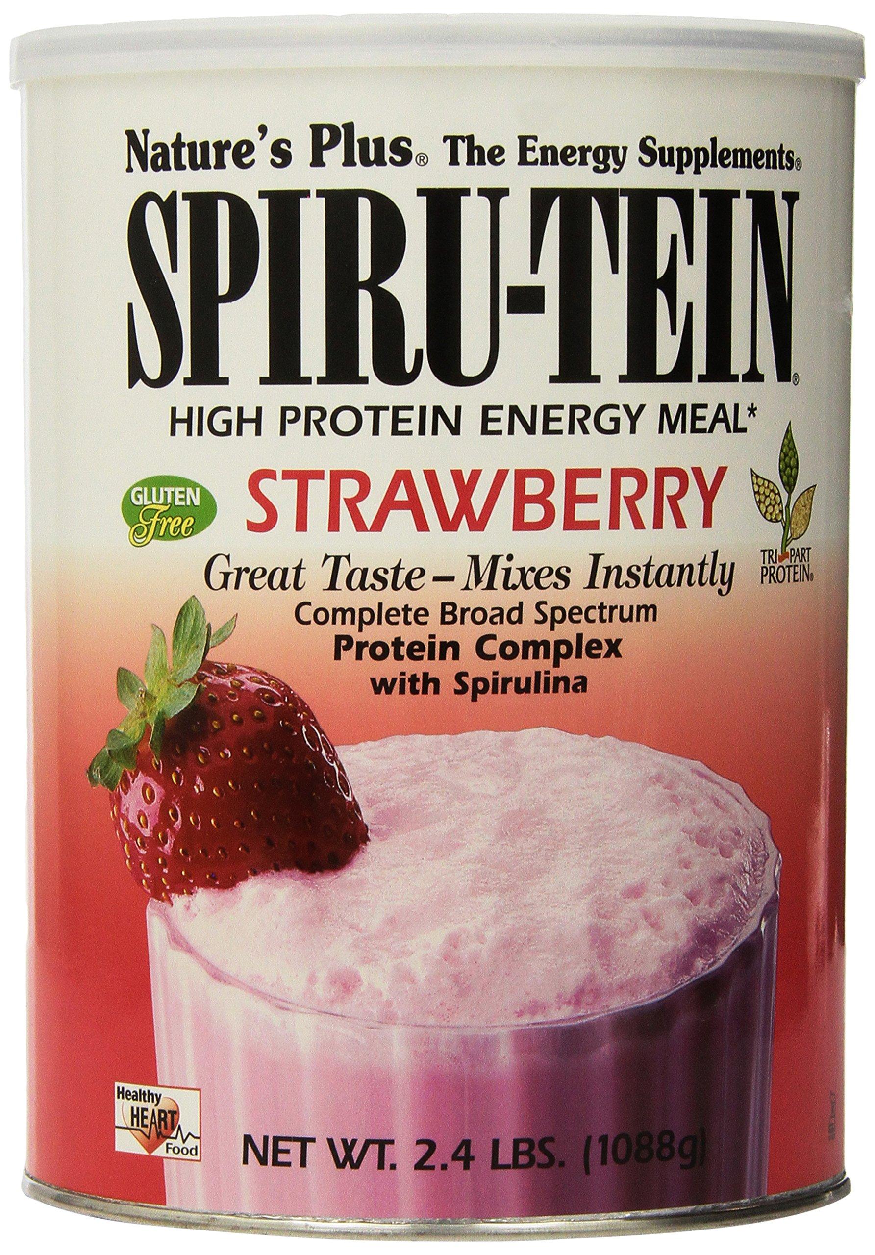 Nature's Plus - Strawberry SPIRU-TEIN Shake, 2.4 lbs powder