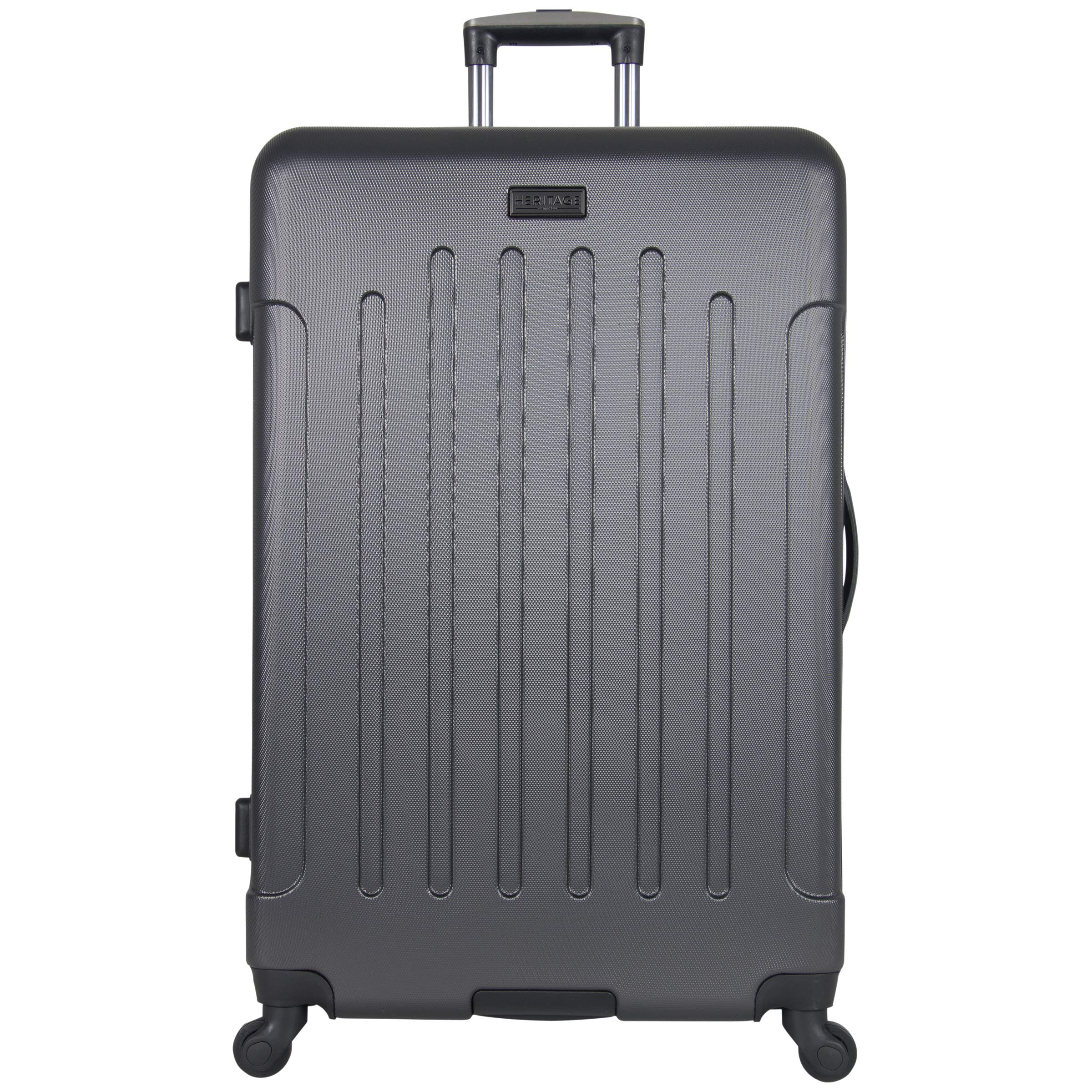 Heritage Travelware Lincoln Park 29'' Lightweight Hardside 4-Wheel Spinner Checked Luggage, Charcoal by Heritage Travelware