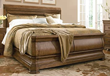 pennsylvania house solid wood queen size sleigh bed - Solid Wood Queen Bed Frame