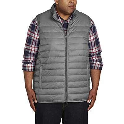 Essentials Men's Big & Tall Lightweight Water-Resistant Packable Puffer Vest fit by DXL: Clothing